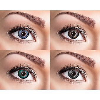 Lente de contacto natural con mirada superior