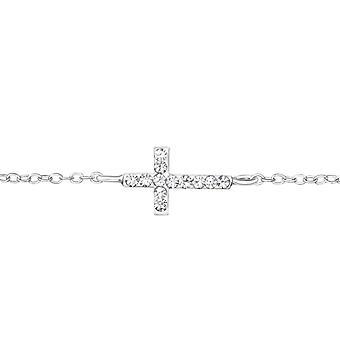 Cross - 925 Sterling Silver Chain Bracelets - W35940x