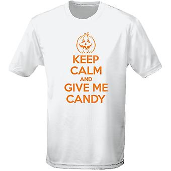 Keep Calm And Give me Candy Costume Fancy Dress Halloween Kids Unisex T-Shirt 8 Colours (XS-XL) by swagwear