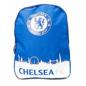 Chelsea FC Official Skyline Football Crest Backpack/Rucksack