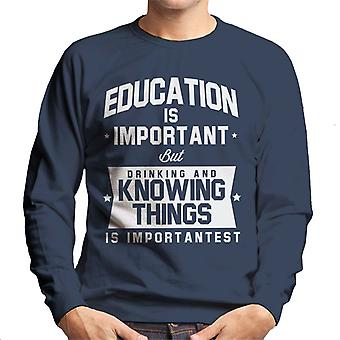 Education Is Important But Using The Force Is Importantest Men's Sweatshirt