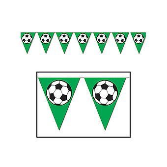 """Banderín de la bola del pie de la bandera 11 """"x 12'"""