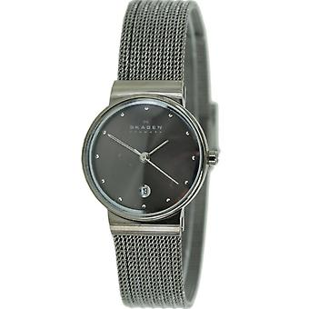 Skagen ladies watch wristwatch slimline stainless steel 355SMM1