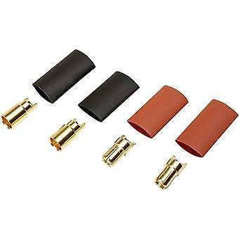 Reely 1373193 Batteriestecker 6 mm vergoldet 2 Paar