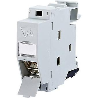 Metz Connect 130B127003-E Network outlet DIN rail CAT 6A Grey-white (RAL 7035)