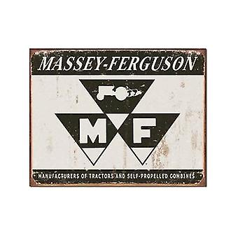Massey Ferguson Logo (Grey) Large Weathered Metal Sign