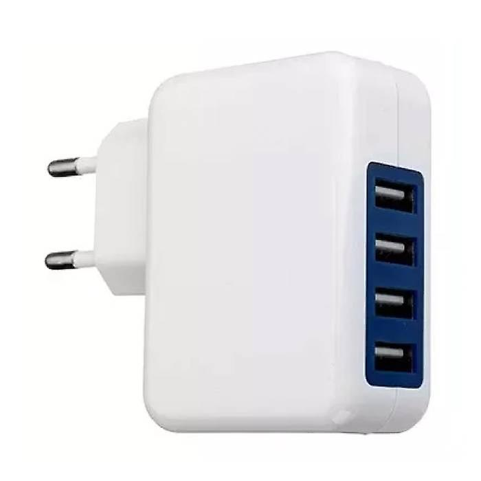 Stuff Certified ® 4x Quad Port USB iPhone / Android 5V - 4A Wall Charger Home Wall Charger AC White