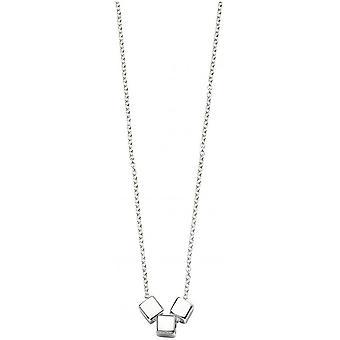Principios cubo Triple deslizador collar - plata