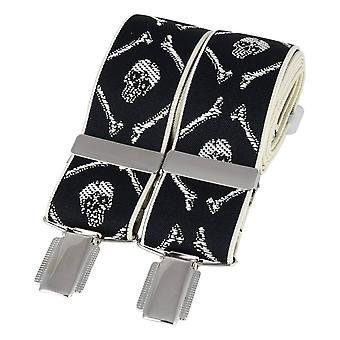 David Van Hagen Skull Braces - Black/White