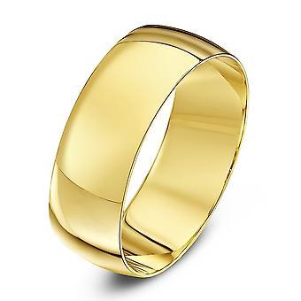 Anéis de casamento estrela 9ct ouro amarelo D forma aliança 7mm