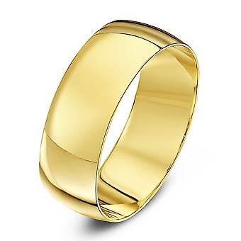 Star Wedding Rings 9ct Yellow Gold Light D Shape 7mm Wedding Ring