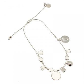 Bcharmd Circle Charm Delicate Chain Bracelet