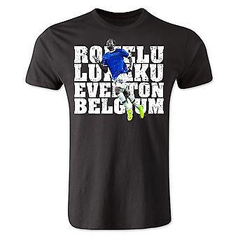 Romelu Lukaku jogador Everton t-shirt (preto)