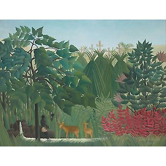 The Waterfall, Henri Rousseau, 50x40cm