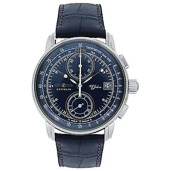Zeppelin | Series 100 Years | Chronograph Date | Blue Leather | 8670-3 Watch