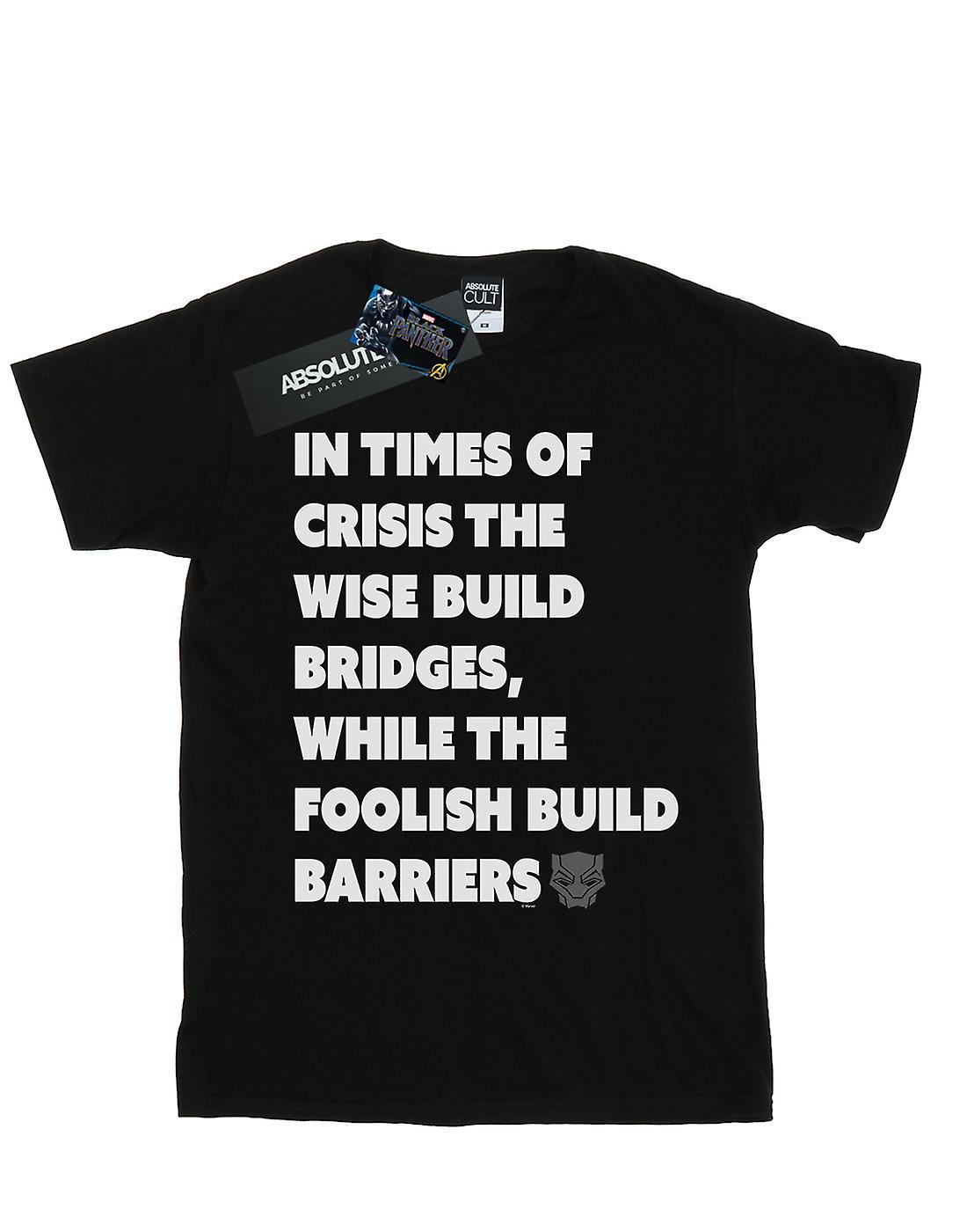 Marvel Women's Black Panther Times Of Crisis Boyfriend Fit T-Shirt