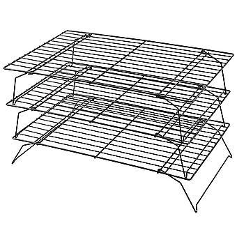 Kabalo espaço salvando 3 camada Stackable cozimento refrigeração Rack para biscoitos, bolos e doces