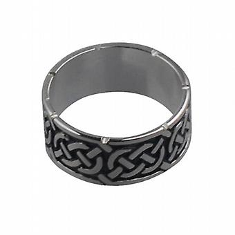Silver oxidized 8mm Celtic Wedding Ring Size Q