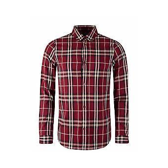 MARSHALL ARTIST Burgundy Check Shirt