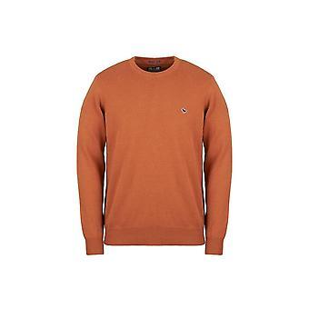 Weekend Offender Mitchell Mustard Crew Neck Sweater
