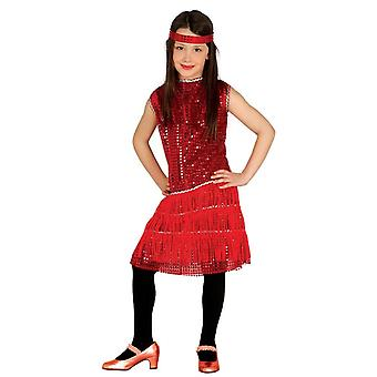 Girls1920s rode Flapper Fancy Dress kostuum