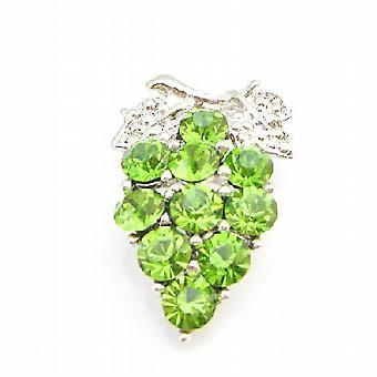 Sparkling & Gorgeous Peridot Crystals Tree Brooch Pin
