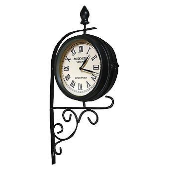Quatro estações relógio Vintage Victorian estação estilo jardim tradicional dupla face ao ar livre dentro de casa