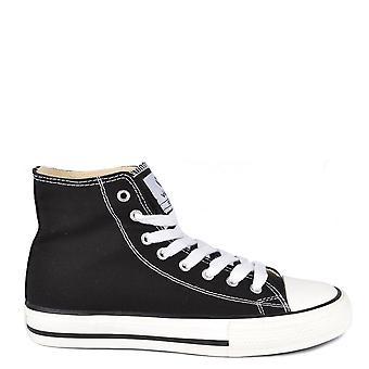 Victoria Shoes Tribu Black Canvas Hi-top Trainer