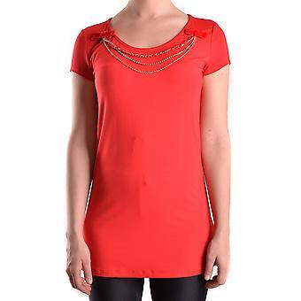 Elisabetta Franchi Ezbc050024 Naisten's Punainen Viskoosi T-paita