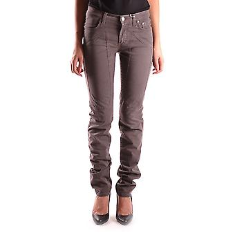 Jeckerson Ezbc069006 Women's Brown Cotton Jeans