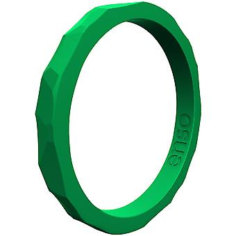 Enso Rings Hammered Stackables Series Silicone Ring - Jade