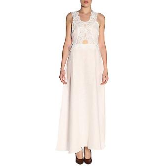 Ermanno Scervino D344q302lik10602 Women's White Linen