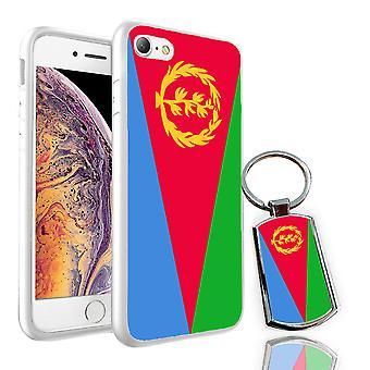 For Sony Xperia XA1 Ultra - Eritrea Flag Design Printed White Case Skin Cover + Free Metal Keyring - 0055 by i-Tronixs