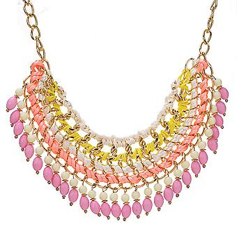 Ladies colourful crystal aztec style jewel statement swarovski crystal necklace