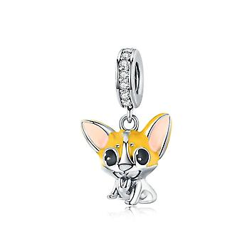 Ciondolo Charm in argento Sterling Corgi Dog