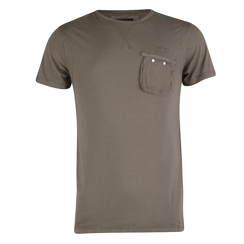 Firetrap Pitcher Crew Neck, Short Sleeve T-Shirt, Rhino, Medium