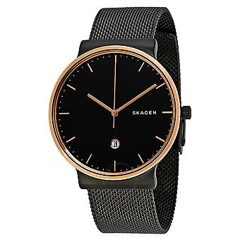 Skagen Ancher Black Stainless Steel Mens Watch SKW6296