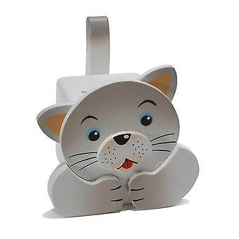 Weizenkorn Piggy Bank Cat Wood