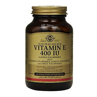 Solgar Vitamin E 268mg (400iu) Vegetarian Softgels 100 (3547)