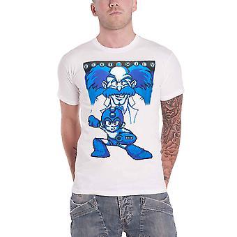 Megaman T Shirt Beat Wily Rockman pixel Logo new Official  Mens White