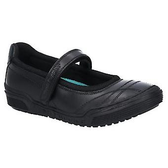 Hush Puppies Amelia Girls Junior Touch Fastening Leather School Shoe