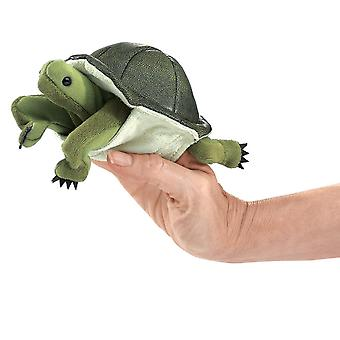 Finger Puppet - Folkmanis - Mini Turtle New Animals Soft Doll Plush Toys 2732