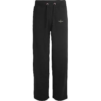 4th Battalion Parachute Regiment - Licensed British Army Embroidered Open Hem Sweatpants / Jogging Bottoms