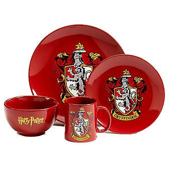Harry Potter Gryffindor 4 pezzo Ceramica Cena Set