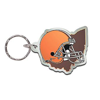 Wincraft STATE Keychain - NFL Cleveland Browns