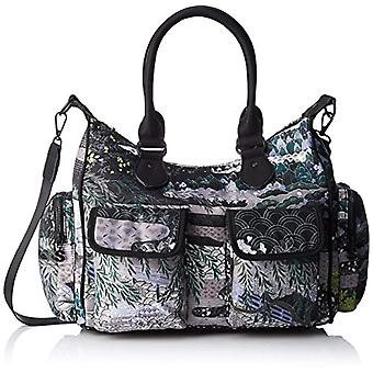 Desigual Bols_explorer_london - Women Green Shoulder Bags (Green Militar) 15.5x25.5x32 cm (B x H T)