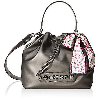 Liefde Moschino tas natuurlijke graan PU emmer vrouwen Grey (Fucile) 25x9x28 cm (b x H x L)