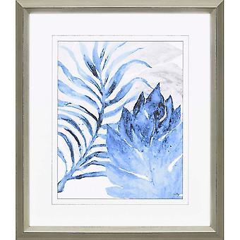 Blue fern and leaf i coastal style by paragon