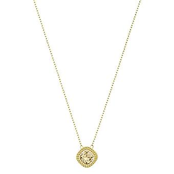 Swarovski Lattitude Necklace with Women's Pendant - Rose Gold Plate - Crystal - Golden