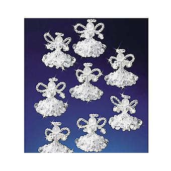 6 Bead & Pipecleaner Angels Christmas Ornament Craft Kit